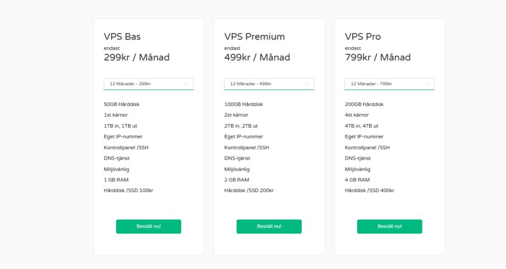 Bild på VPS-tjänster hos FS Data.