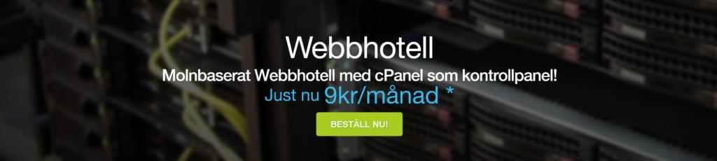"bild på webbhotellet ""Miss Hosting"""